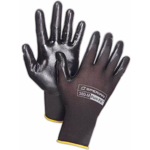 380-L HONEYWELL PURE FIT 380 NITRILE PALM COATED GLOVES