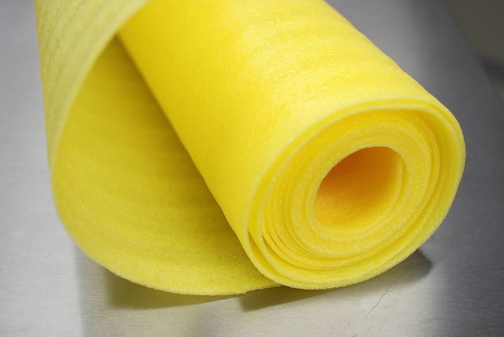 1/8in 72X550ft Slit 36in Yellow VCI Foam Sheeting 2rl/bn
