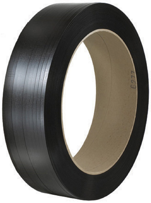 1/2x7200 .020 600lb Black 16x6 PET Strap Smooth 1/cs