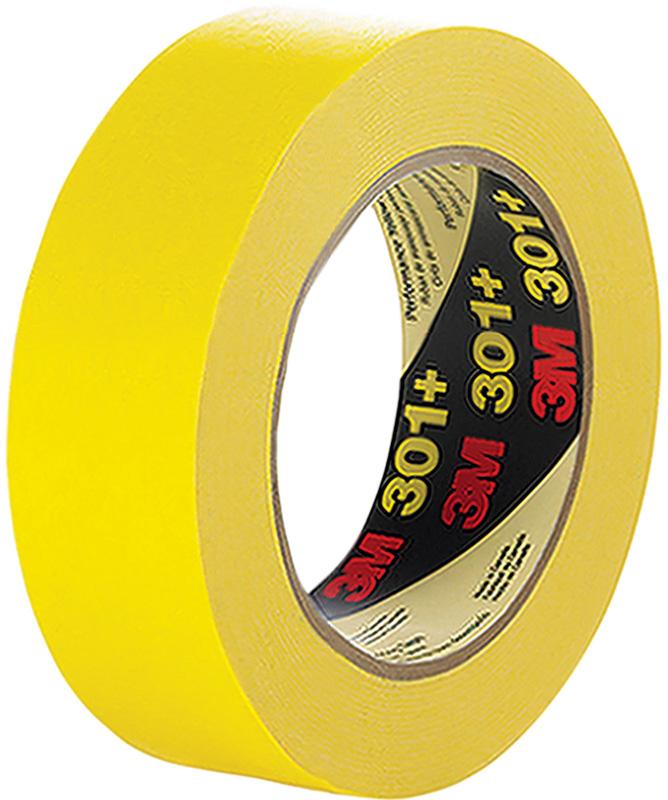 24mmx55m 6.3mil 3M 301+ Yellow Performance Masking Tape 36rls/cs