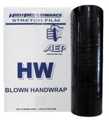 18x1500' 80ga Black Blown Stretch Film 4rls/cs