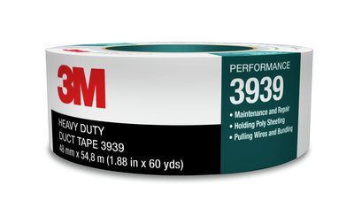 24mmx55m 8.6mil 3M 3939 Silver Duct Tape 36rl/cs