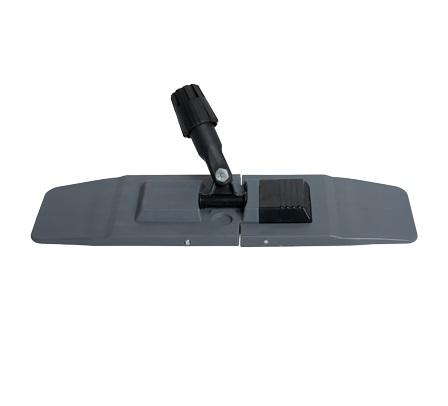 16in Gray Pocket Microfiber Frame Flat Mop Collapsible Base & Swivel 20/cs