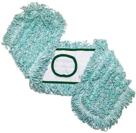 24in Green 5in Slip Pocket TrioSplit Microfiber Dust Mop 12/pk