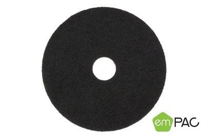 17in Empac Black Stripper Floor Pad 5/cs