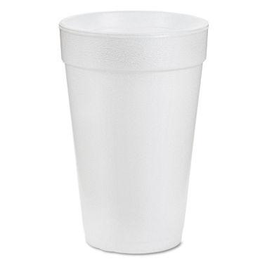16oz White Hi-Sheen Foam Cup 20/pk 25pk/cs