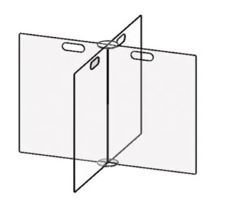 24x48 4 Way Table Top Divider Accu-Shield