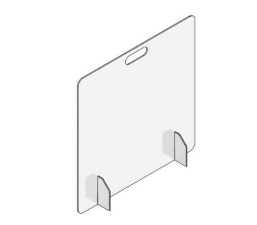 24x36 Counter Top Panel Plain Front Accushield