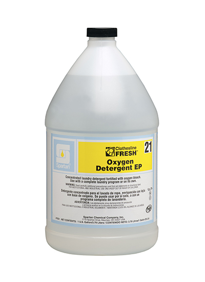 #21 CLF Oxygen Detergent EP Laundry Detergent & Color Safe Bleach 1gal 4/cs